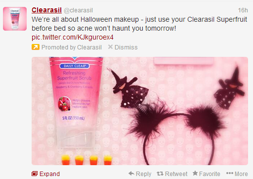 clearasil tweet