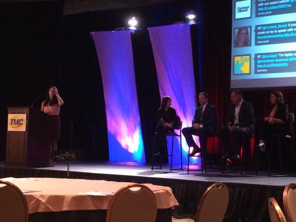 From our content marketing keynote panel at ITEXPO in August